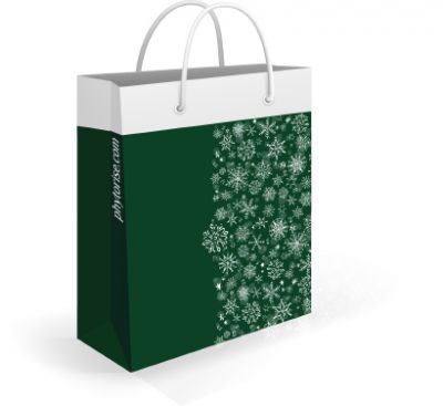 Пакет подарочный (зеленый)